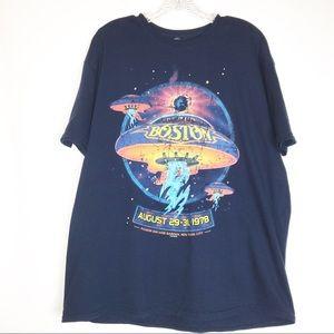 Boston Band Navy T-shirt August 29-31, 1978 MSG